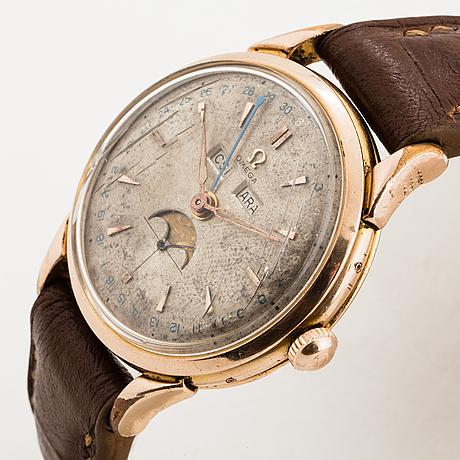 Omega, cosmic, moonphase, triple date, wristwatch, 37 mm.