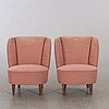 A pair of easy chairs mid 20th century,