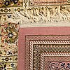 An old chinese silk carpet with ghom-pattern ca 290 x 196 cm.