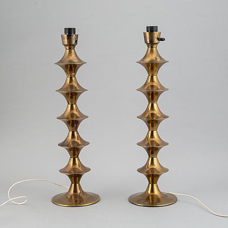 A pair of elit ab table lights, 1970's.