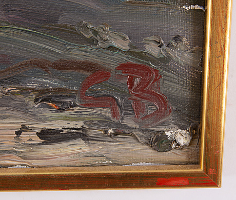 Göran brunius, olja på duk, signerad.