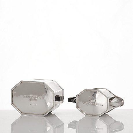 Atelier borgila, a sterling silver coffee set, 3 pcs, stockholm 1935.