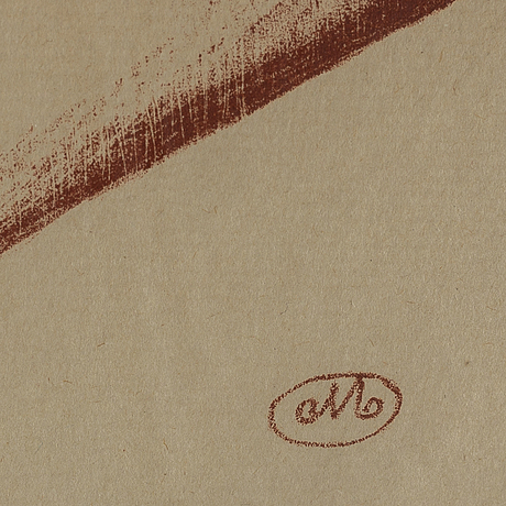 Aristide maillol, lithograph printed in sanguine on wove, with monogram stamp within the plate.