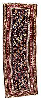 246. Gallerimatta, antik Karabagh, ca 268,5-278 x 98,5-103,5 cm.