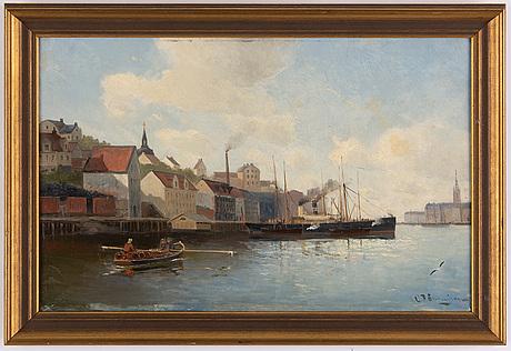 Christian fredrik swensson,oil on canvas, signed.