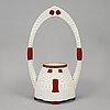 A julius dressler ceramic vase, austria, early 20th century.