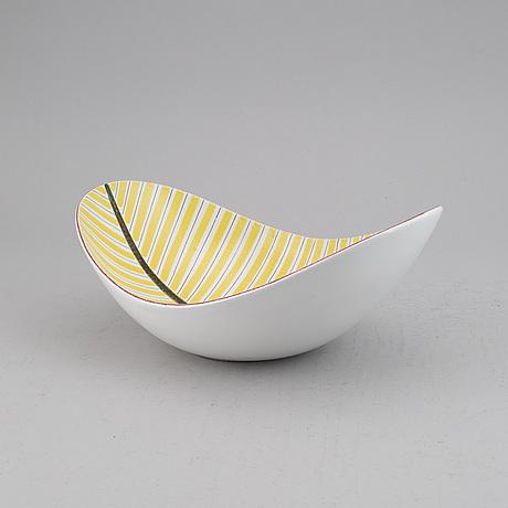 Stig lindberg, an earthenware bowl, gustavsberg studio.