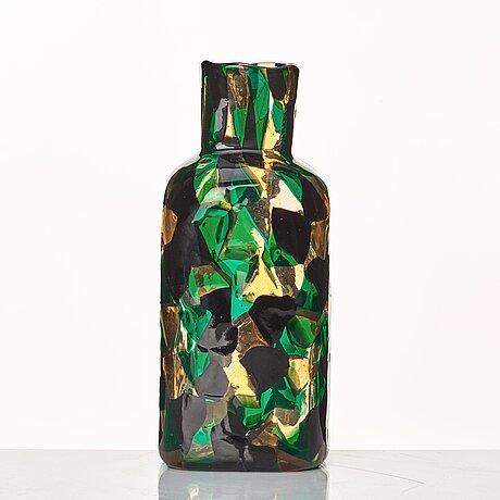 """Fulvio bianconi, a rare """"pezzato americano"""" vase, venini, murano, italy ca 1950, model 3541."""
