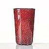 "Paolo venini, a red and opaque ""murrine a puntini"" vase, venini murano, italy 1950-60's."
