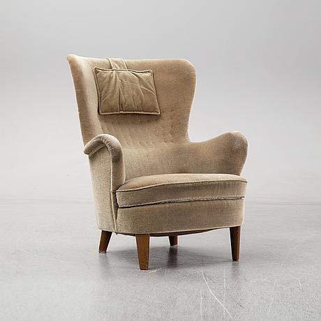 A swedish modern easy chair, mid 20th century.