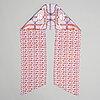 Hermès, a maxi twilly, 'grand manège' silk scarf.