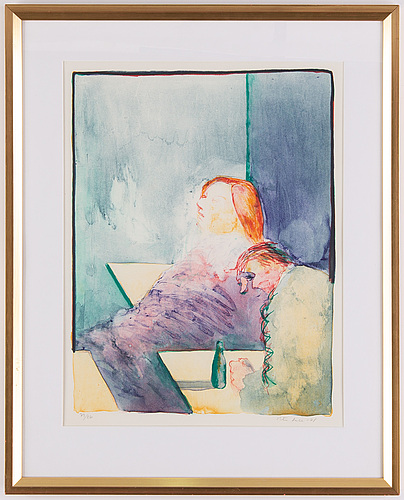 Peter dahl, lithograph in colours, 1978, signed 79/260.