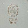 "Arthur percy, teservis, 26 dlr  ""grand"" gefle 1940-tal flintgods."