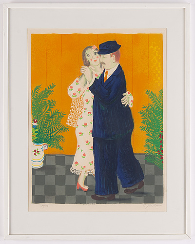 Lennart jirlow, lithograph in colours, 1978, signed 170/310.