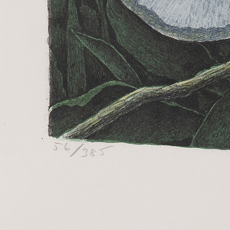 Karl axel pehrson, lithograph in colours, 1984, signed 56/385.