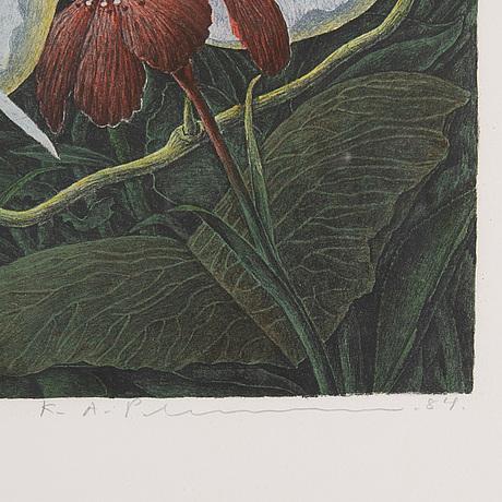 Karl axel pehrson, färglitografi, 1984, signerad 56/385.