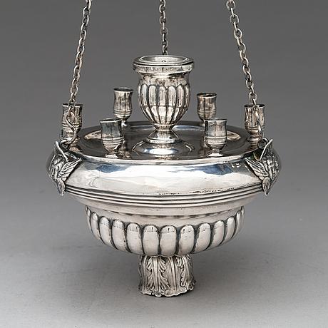 Jevstafij silantiev, oljelampa, silver, s:t petersburg, 1839.
