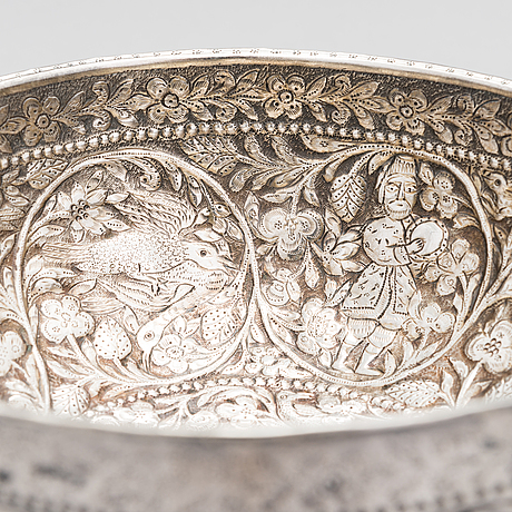 A mid-19th century tbilisi silver bowl, unknown master, assay master egor blomberg, tiflis, 1852.