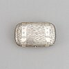 A russian silver cigarette-case, marked eb, 1883.