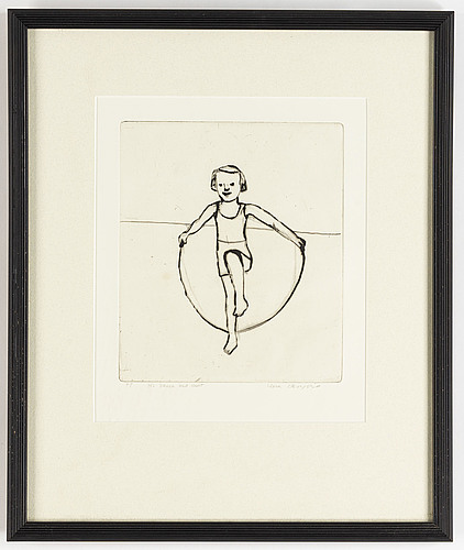 Lena cronqvist, drypoint etching, signed.