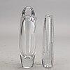 Vicke lindstrand, 2 signed glass vases.