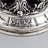Two lided silver cups, swedish import mark.