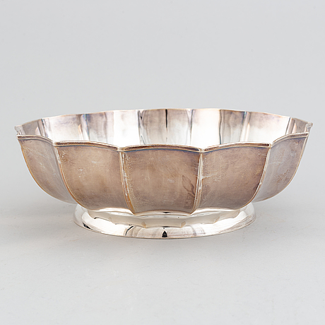 A 20th century silver bowl, swedish import mark.