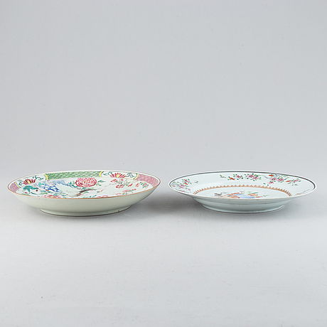 Two famille rose dishes, qing dynasty, qianlong (1736-95).