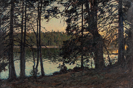 Gottfrid kallstenius, oil on canvas, signed and dated 1921.
