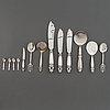 "Georg jensen, a mixed lot of ele pieces silver serving flatware, mostly ""acorn"" design johan rohde, copenhangen, denmar."
