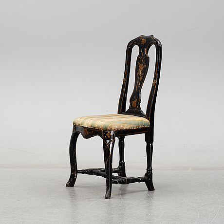 A painted late baroque chair, 18th century.