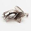 A silver brooch. finland 1966.