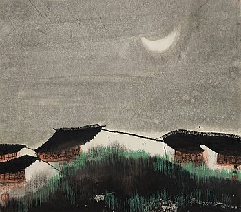 Zhao Zhunwang, born 1944, ink and colour on paper.
