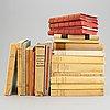 Böcker, 25 volymer. parti dedikationsexemplar av prins wilhelm (8), prins eugen (2) och poul bjerre (12).