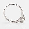 A 14k white gold ring with brilliant-cut diamonds ca. 0.60 ct in total.