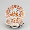 A set of four rouge de fer dishes, qing dynasty, qianlong (1736-95).