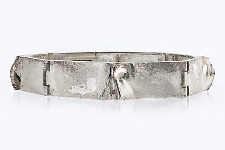 """Lapponia bracelet silver """"ceres"""" design björn weckström finland 1979."""