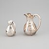 2 silver 830 pitchers,  th marthinsen, norway 20th century.