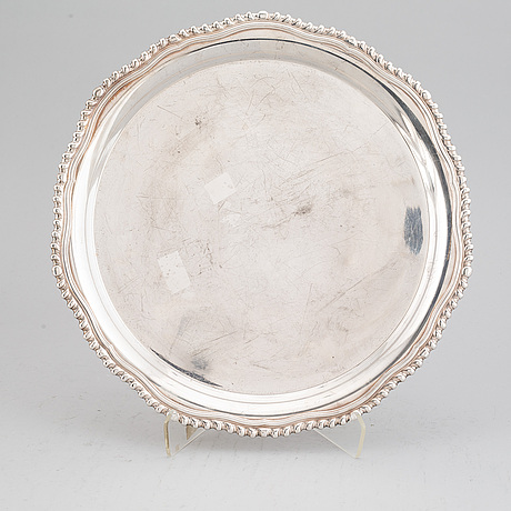 Two silver trays, th marthinsen, norway 20th century.