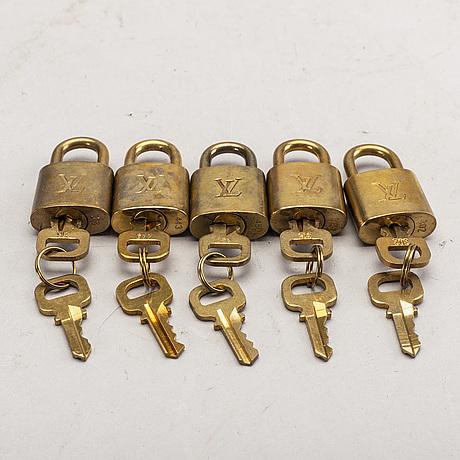 Louis vuitton, locks, 5 pcs.