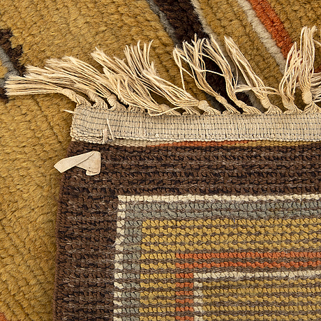 A swedish knotted pile rug 1930/40's ca 238 x 153 cm.