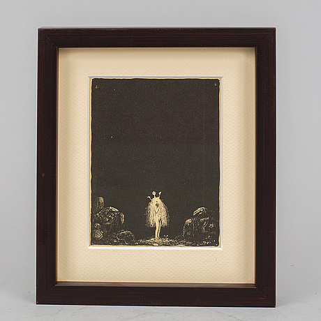 John bauer, lithograph, 1915, signed in the print.