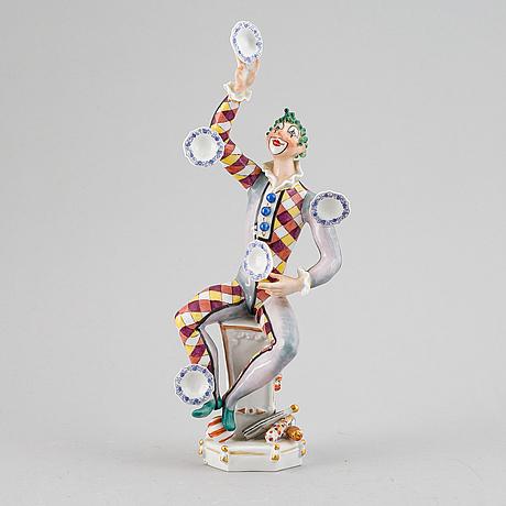 Peter strang, a meissen porcelain figurine, germany.