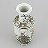 A famille verte kangxi style vase, early 20th century.