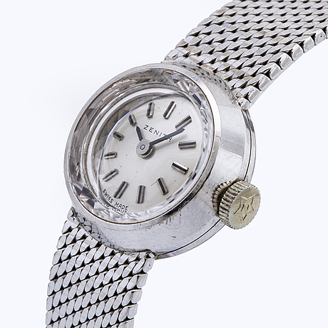 Wristwatch zenith, 18k whitegold, 16 mm, manual.