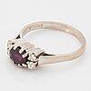 Ruby and brilliant-cut diamond ring.