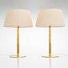 Paavo tynell, a pair of mid-20th century '9206' table lamps for taito.