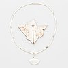 Zoltan popovits, lapponia necklace and brooch, silver 1988.