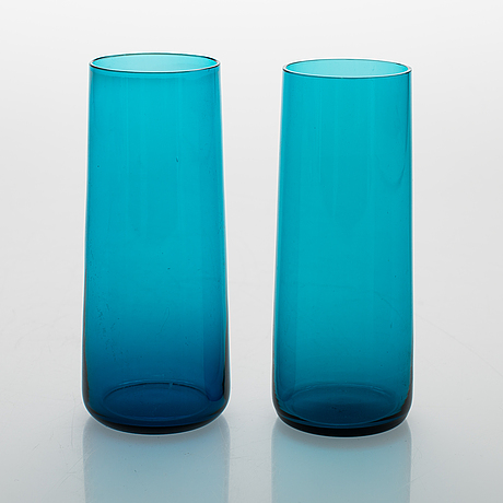 Nanny still, a set of 10 harlekiini glasses by riihimäen lasi oy, 1950-60s.