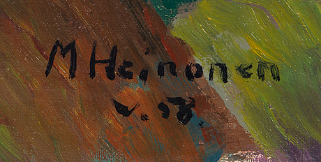 Mauri heinonen, oil on canvas, signed and dated -58.